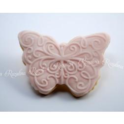 """Μπισκότο Βουτύρου """"Ροζ-Πεταλούδα"""""""