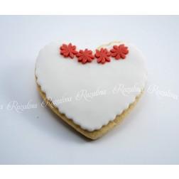 """Μπισκότο Βουτύρου """"Καρδιά & Λουλούδια"""""""