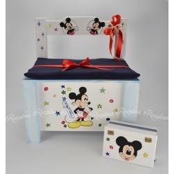 """Κουτί Βάπτισης Παγκάκι """"Mickey"""""""