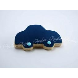 """Μπισκότο Βάπτισης Βουτύρου """"Μπλε Αυτοκίνητο"""""""