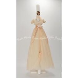 """Λαμπάδα Βάπτισης """"Φόρεμα"""""""