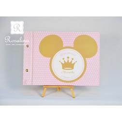 Βιβλίο Ευχών Minnie σε ροζ-χρυσό