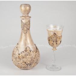 Σετ Καράφα & Ποτήρι Χειροποίητο Vintage