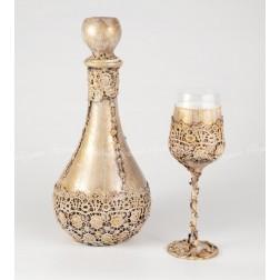 Σετ Καράφα & Ποτήρι Χειροποίητο Vintage 2