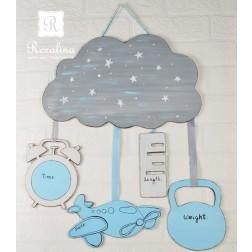 Χειροποίητο Ξύλινο Δώρο για Νεογέννητο Μωράκι