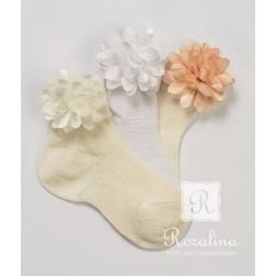 Βαπτιστικά Καλτσάκια Chiffon Λουλούδια