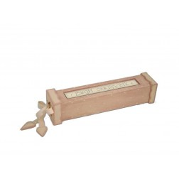Ξύλινο κουτί για το πιστοποιητικό γέννησης (κορίτσι)