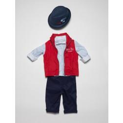 Βαπτιστικά Ρούχα για Αγόρι με Γιλέκο Guy Laroche