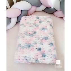 Χειροποίητη Βρεφική Κουβέρτα Πολύχρωμη Pastel
