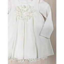 Σετ Φόρεμα Χειμερινό με Μπλουζάκι 12 μηνών Marasil