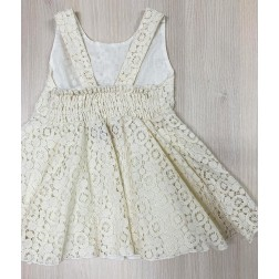 Φόρεμα Εκρού Δαντέλα