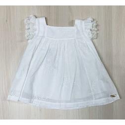 Φόρεμα Μπροντερί Λευκό