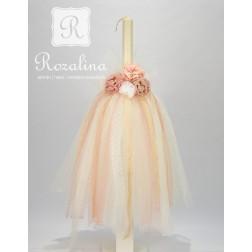"""Λαμπάδα Βάπτισης """"Romantic Dress"""""""