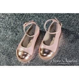 Δερμάτινη Μπαλαρίνα Stova Bambini SS2021 Mirror Pink