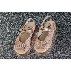 Δερμάτινο Πέδιλο Peep Toe Stova Bambini SS2021 Glitter