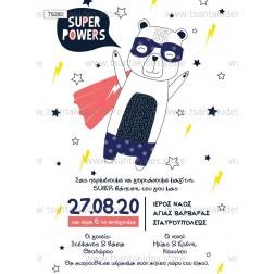 """Προσκλητήριο Βάπτισης """"Super Heroes"""" TS200"""